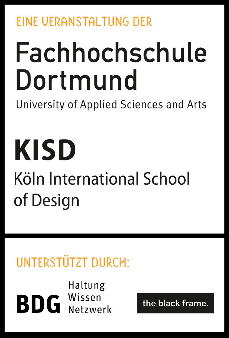 33pt ist eine Veranstaltung der FH Dortmund un der KISD – mit freundlicher Unterstützung von bdg und the black frame.